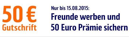 ING DiBa nur bis 15.08.2015: 50 Euro statt 20 Euro Gutschrift für KwK + 75 Euro Gutschrift für die Nutzung als Gehaltskonto