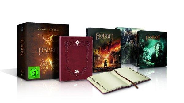 Der Hobbit - Trilogie (Steel Edition inkl. Bilbos Journal) ab 39,99 € @ Saturn (Kombi NL-Gutschein + Abholung)