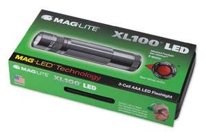[Amazon-Prime] Mag-Lite XL100-S3097 LED-Taschenlampe XL100, 83 Lumen, 12 cm titan-grau in Box mit 5 Modi, Motion Control u. elektron. Multifunktionsschalter