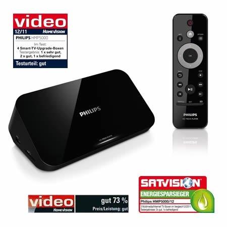 Philips HMP5000 Media-Player HD USB 2.0 WiFi WLAN, 59,80 EUR @ eltronics