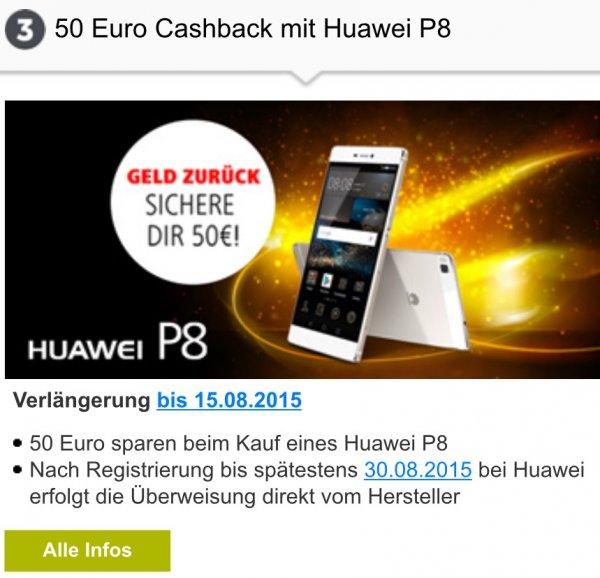 [vodafone] 50€ Cashback bei Huawei P8