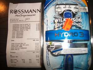 "[ Rossmann ] Wilkinson Hydro 3 Rasierer gratis  ""Green Label "" + Coupon"