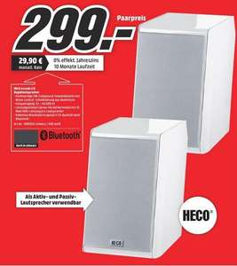 [Media Markt Leinfelden-Echterdingen] Bluetooth Lautsprecher Heco Ascada 2.0