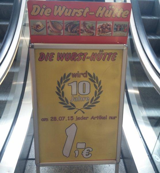 """[Lokal] Köln Mülheim, """"Die Wurst-Hütte"""" am 28.07.15 jeder Artikel nur 1€; Krakauer statt 2,30€ ->1€ (56% Rabatt)"""