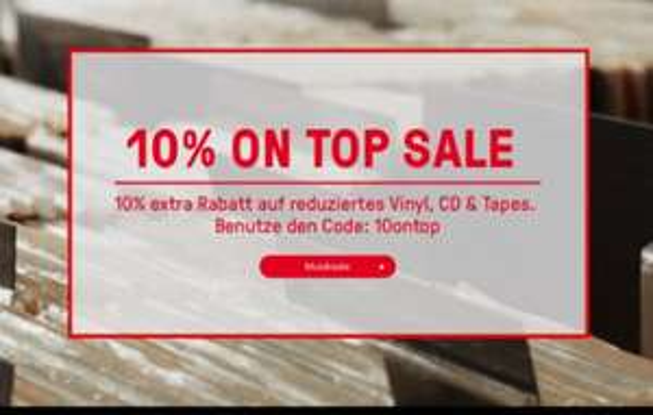 hhv.de - 10% On Top Sale auf reduzierte Musikartikel (Vinyl, CD & Tape) für 48h bis zum 25.07.15
