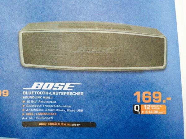 Lokal Saturn Reutlingen - Bose Soundlink Mini II 2 in Carbon oder Silver 169€