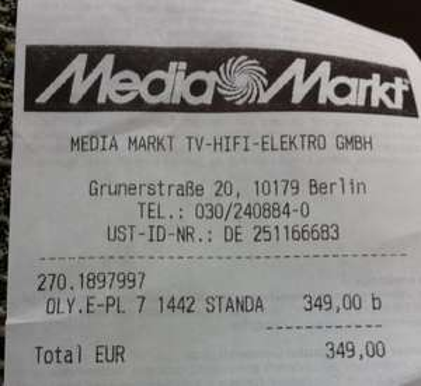 [Lokal] Media Markt und Saturn Alexanderplatz Olympus E_PL 7+14-42 IIR Kit 349€