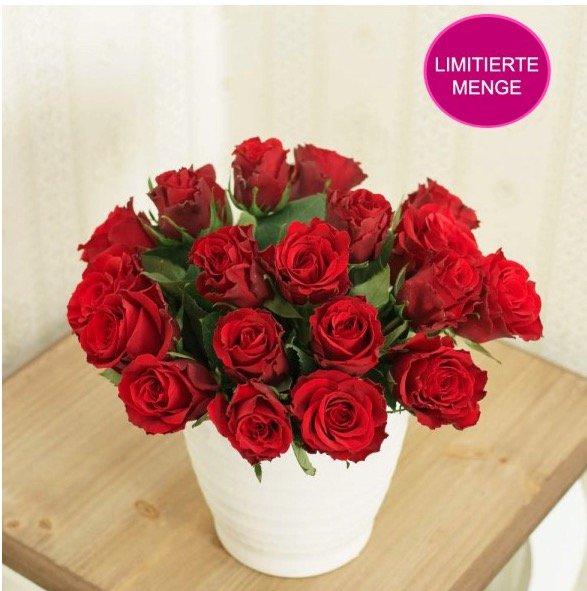 (Blumeideal) Blumen-Deal: Rosen Special 20 Rosen (Rot) mind. 40cm Länge inkl. Versand und Grußkarte für 13,89€ (eventuell noch 14% Qipu)
