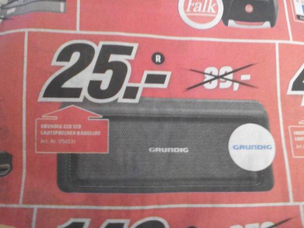 [Lokal Weiden Oberpf.] Media Markt Grundig GSB 120, Bluetooth Lautsprecher