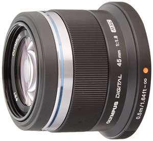 MFT  Objektiv Olympus M.Zuiko Digital 45mm f1.8 bei [Amazon.co.uk] 215€ - Cashback