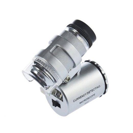 [Amazon-Marktplatz] 60 Fach Mini Mikroskop Vergrößerungsglas mit LED