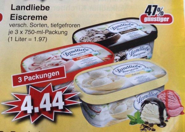 (lokal Alzenau) Edeka 3x Landliebe Eiscreme 4,44€ (Stückpreis 1,48€)