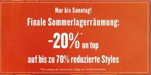 TomTailor bis -70% REDUZIERT ab 26.07. Upgrade -20%on Top bis 09.08.15