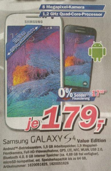 [Lokal Cloppenburg] Samsung Galaxy S4 Value Edition Telepoint im Famila Center