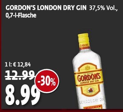 Gordon´s London Dry Gin 0,7 L bei KAISER´S für 8,99 Euro