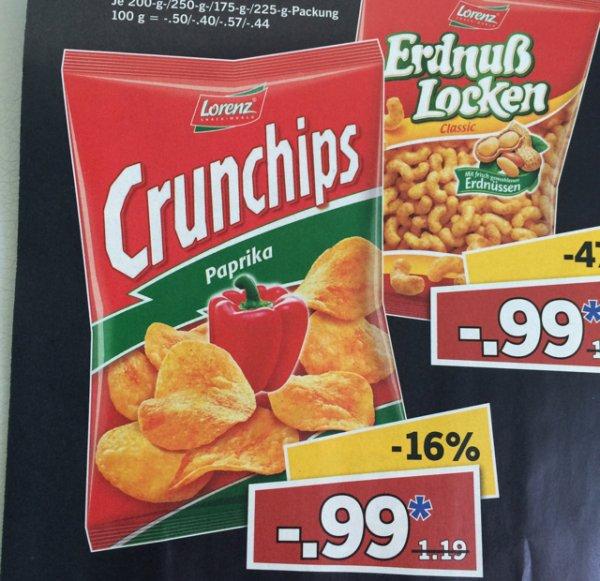 Lorenz Crunchips für 99 Cent bei Lidl am 1.8 (Berlin, evtl nur Lokal)