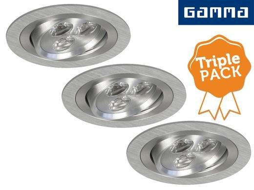 3er-Pack Gamma LED-Einbauleuchten 3W 24,95 € zzgl. Versand