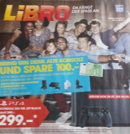 [Österreich][Libro Offline] Playstation 4 Konsole - 1000GB,oder 500GB inkl. 2x Dualshock 4 Wireless Controller, schwarz uvm für 299€ vom 30.07 bis 06.08.2015