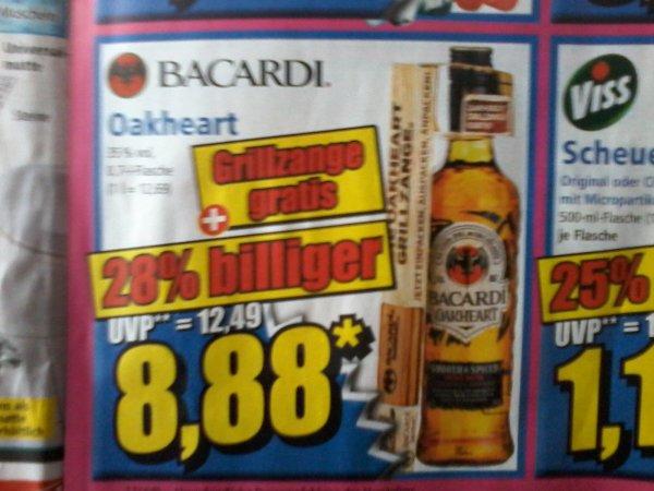 BACARDI Oakheart mit gratis Grillzange (Norma)   8,88€
