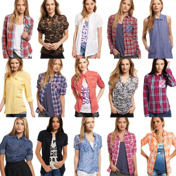 Superdry Damen Bluse Hemd verschiedene Modelle, 18,95 EUR @ ebay