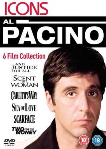 Al Pacino 6er DVD BOX, teilweise Deutsch, u.a. Der Duft der Frauen und Scarface für 9,32 Euro bei thehut.com
