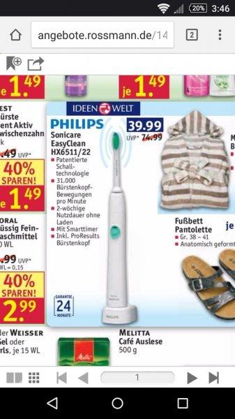 Philips Sonicare HX6511/22 bei Rossmann für 39,99€ bis 31.07 online und offline