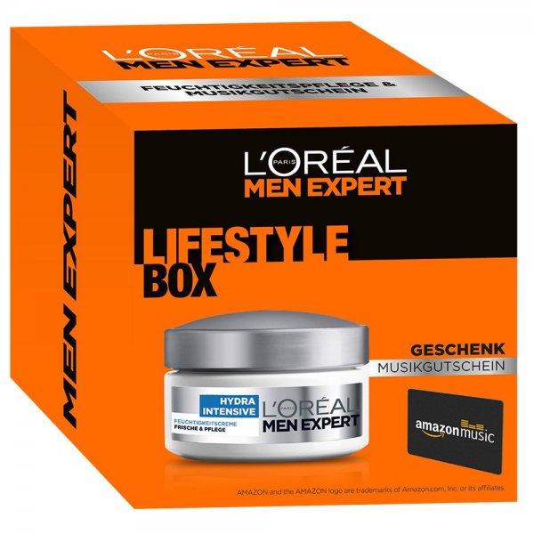 @Amazon L'Oréal Men Expert Set inkl. Hydra Intensive Feuchtigkeitscreme plus Amazon Musikgutschein für 4,19 €