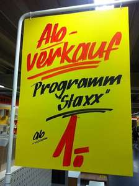 """[LOKAL BERLIN] Sconto Möbelmarkt - Abverkauf Phoenix Regalsystem """"Staxx"""""""