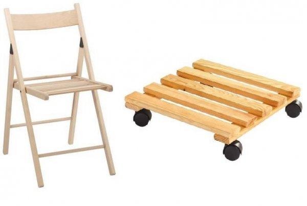 [XXXL-Shop] Pflanzenroller für 2,90€ inkl. Versand + Klappstuhl aus Holz für 4,90€ inkl. Versand