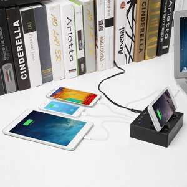 4 USB Port Ladegerät mit Ständer nur für 16,99, ein Gratisprodukt erhalten@amazon