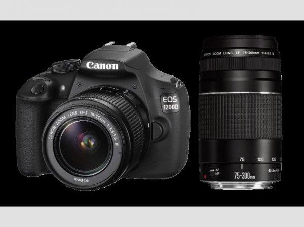 [Saturn] Canon EOS 1200D Kit 18-55 mm + 75-300 mm Canon III ab 394,-€ Mit NL Gutschein und Filialabholung