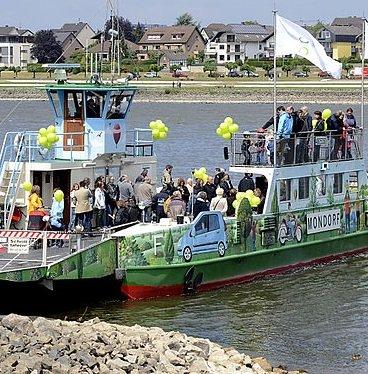 Kostenlose Überfahrten mit den Rhein-Fähren Graurheindorf - Mondorf & Bad Godesberg - Niederdollendorf für Radler am 2.August