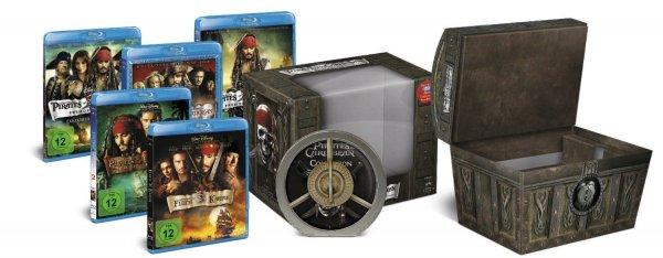 amazon.de - Pirates of the Caribbean - Die Piraten-Quadrologie Blu-ray (Limitierte Collector's Edition Schatztruhe inkl. Soundtrack) Preis inkl. Versand: 24,99 € (Prime) / Vergleichspreis inkl. Versand: ca. 29,99 €