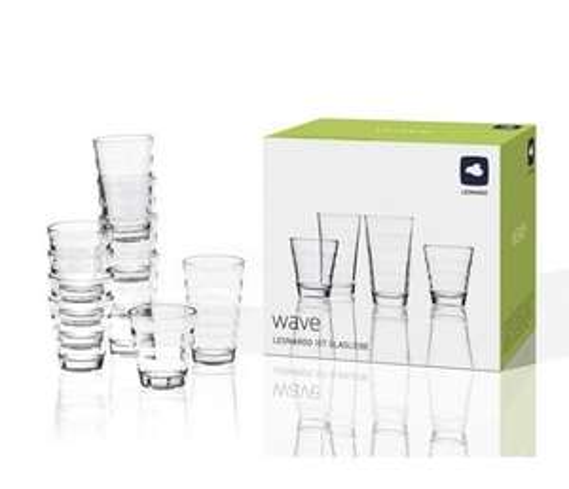 (XXXL-Shop) wieder verfügbar, das beliebte, 12 teillige Gläser-Set Wave von Leonardo für 8,99€ inkl. VSK