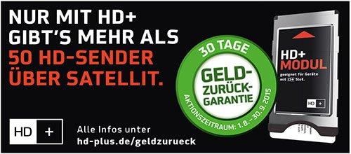 HD+ Modul 30 Tage kostenlos testen durch Geld zurück Garantie