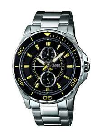 Casio Herren-Armbanduhr XL Collection Men Analog Quarz Edelstahl MTD-1077D-1A2VEF
