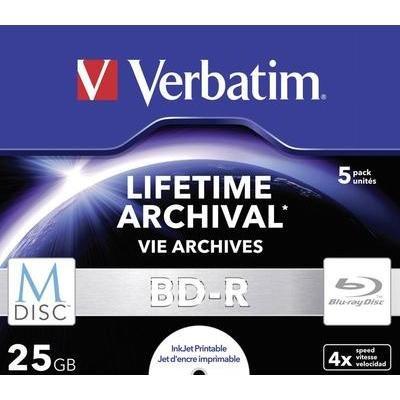 M-DISC Blu-ray Rohling 25GB Verbatim 43823 15 Stück 43,67€ Jewelcase Bedruckbar [@Conrad]