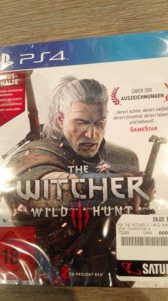 lokal Saturn Duisburg The Witcher 3 Wild Hunt PS4 nur 29€