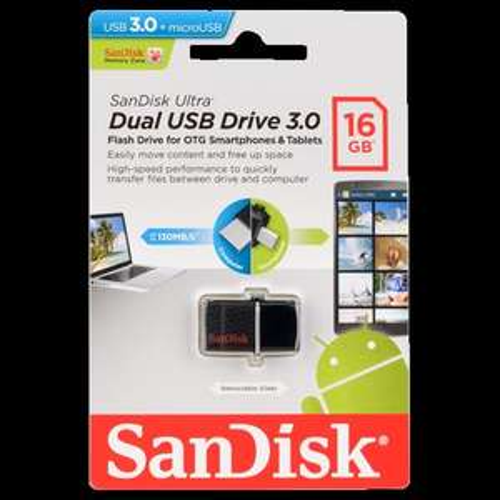 Sandisk Dual USB Laufwerk 16GB USB3.0 @ACTION [Lokal?]