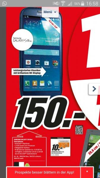 Media Markt 1000: Samsung Galaxy S3 NEO