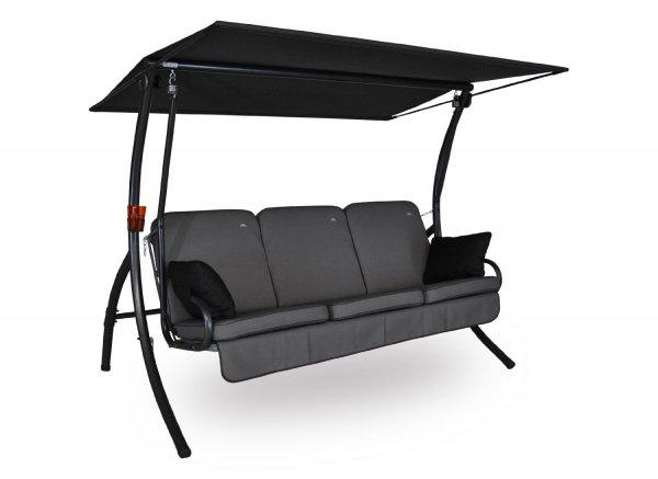 Angerer Primero Style Hollywood-Schaukel, 3-Sitzer mit Liegefunktion, Farbe: grau, für nur 318,21 € statt 549,99 €, @Amazon