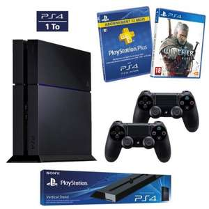 [CDiscount.com] Playstation 4 Ultimate Player 1TB + 2. Controller + PS Plus Mitgliedschaft 12 Monate + The Witcher 3 + PS4 vertikaler Standfuß