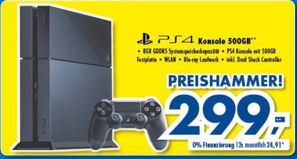 REGIONAL PlayStation 4 bei Euronics XXL Bodensee für 299 Euro