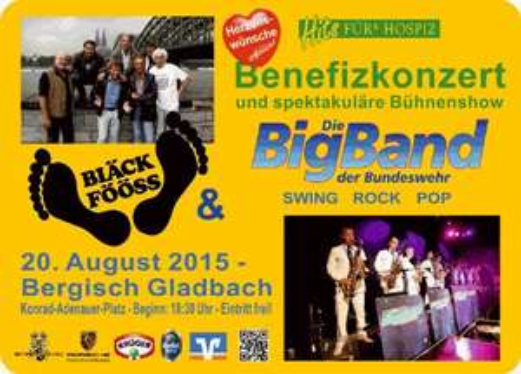 Bergisch Gladbach - Benefizkonzert  Bläck Fööss und Big Band der Bundeswehr am 20.8.2015 um 18:30 - Eintritt frei