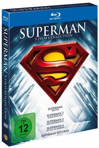 [Saturn] Superman 1-5 - Die Spielfilm Collection Blu-Ray für 12,99€ | Idealo: 18,49€