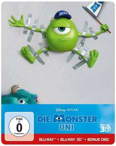 Die Monster Uni (Steelbook) (Blu-ray 3D) für 12€ @Media Markt & Amazon