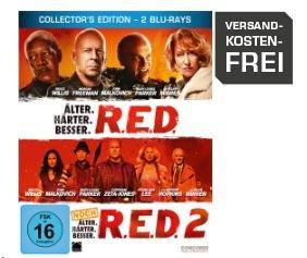 R.E.D. - Älter. Härter. Besser/R.E.D. 2 - Noch Älter. Härter. Besser - Steelbook [Blu-ray] für 9,99€ @Saturn.de