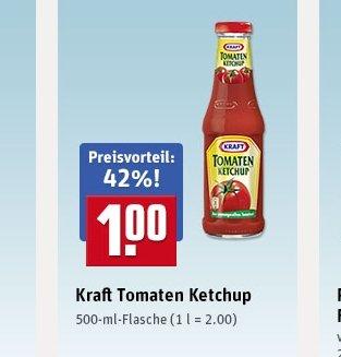 Kraft Tomaten Ketchup 500ml 1€ Glasflasche @ Rewe Lokal