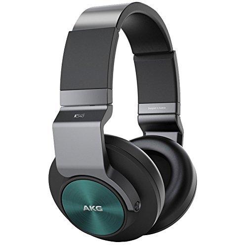 [Amazon WHD] AKG K545 Geschlossene Over-Ear Kopfhörer mit Bedieneinheit und Mikrofon / Kompatibel mit iOS und Android Smartphones - Schwarz/Türkis für 69,35€