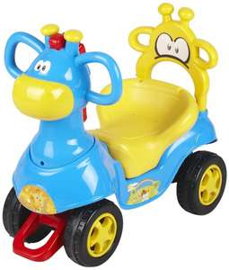 [Amazon-Prime] Chipolino CHIPROCG01401BY - Giraffe Kinderauto Ride On, blau/gelb
